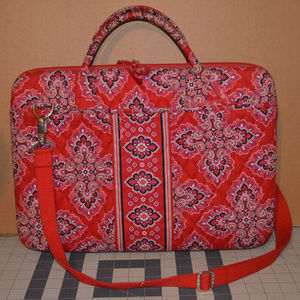 Vera Bradley Hard Shell Laptop Bag Frankly Scarlet